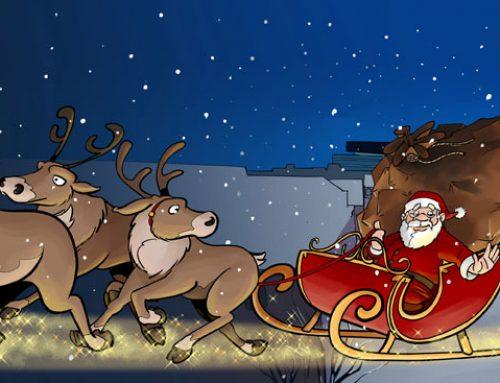 Rudolf, das Rentier mit der roten Nase.