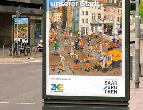 """Wimmelbilder für die Kampagne """"Sauber ist schöner."""""""