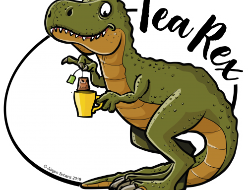 Tea-Rex (T-Shirt Motiv)