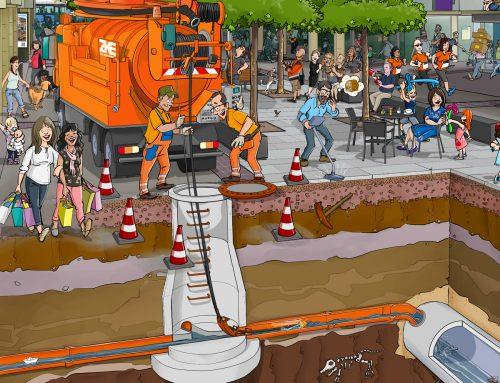 Wimmelbilder ZKE Kanalbau, Kanalreinigung und Kanalverfilmung